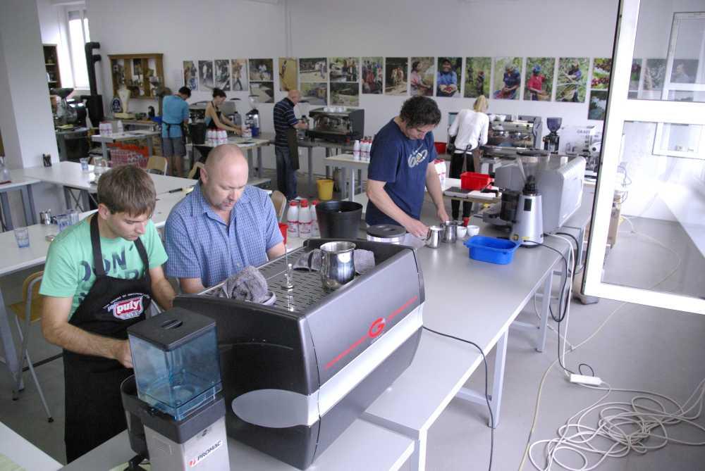 Škola kávy - praxe
