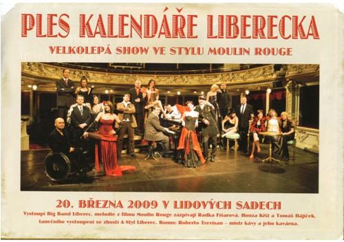 Plakát plesu Kalendáře Liberecka zmiňoval i přípravu kávy z rukou Roberto Trevisana