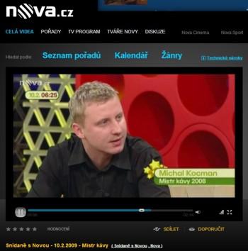 Michal Kocman - vítez 6. ročníku soutěže Mistr kávy