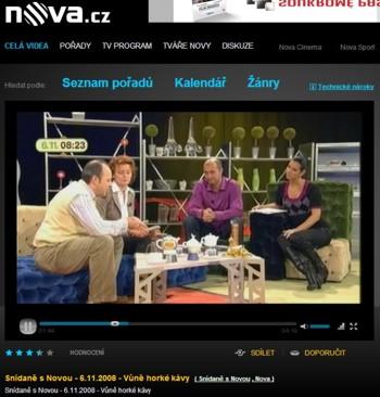 Roberto a Štěpánka ve studiu Snídaně s Novou