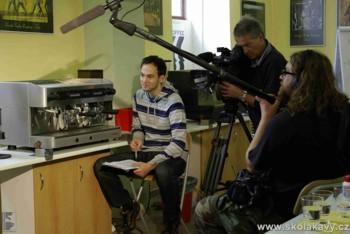 Škola kávy v pořadu TV Víkend