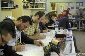 Písemná zkouška - r.2009 -  ještě ve starém školícím centru