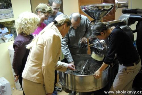 Hodnocení pražení kávy