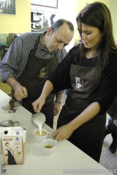 praxe semináře Latte Art